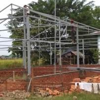 Avance construcción nueva escuela en Birmania 10-2018