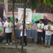 Entrega material escolar: Tercer Proyecto escuela de Muy Muy, Nicaragua