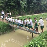 (Español) Puesta de la Primera Piedra Nueva Escuela en Chunsu de Pwint Phyu, Magwe, Birmania