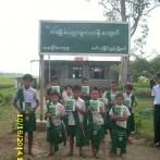 Donaciones en ocho escuelas del Delta de rio Ayeyawaddy, Birmania 10-2014